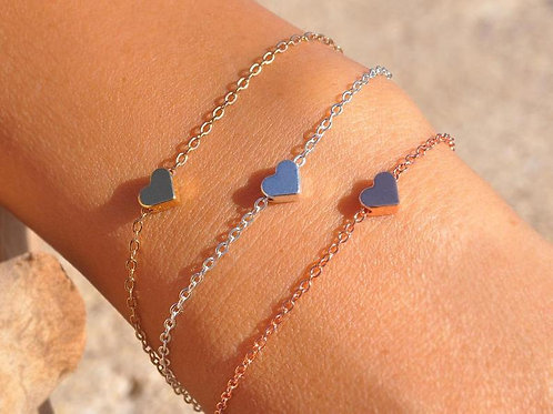 Alina Mini Heart Bracelet.
