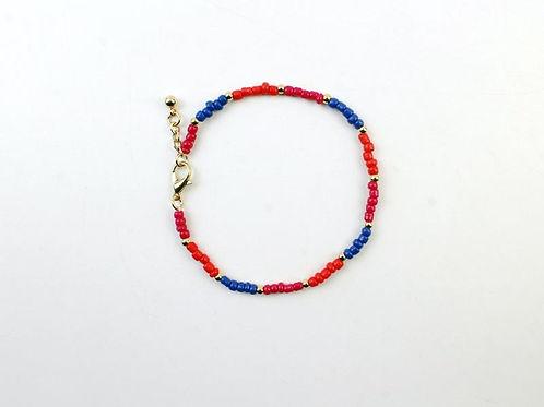 Armine Tri-Color Beaded Bracelet