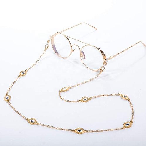 Evil-Eye Convertable Eyeglass/Mask Necklace