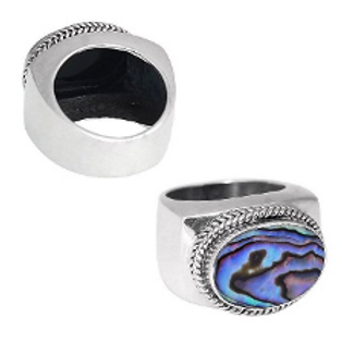 Contemporary Abalone Shell Ring