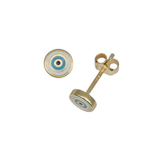 Mini Enamel Evil Eye Stud Earrings