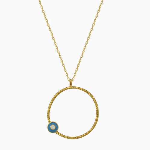 Circle of Life Evil Eye Necklace
