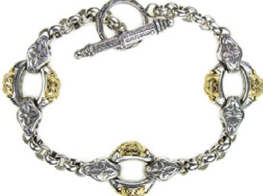 Byzantine Filigree Link Bracelet