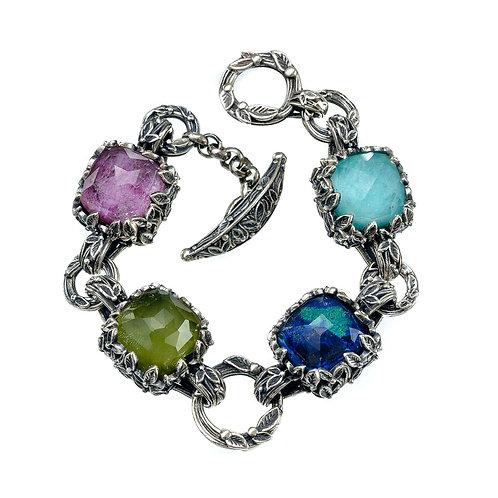 Radiant Multi-Color Gemstone Bracelet