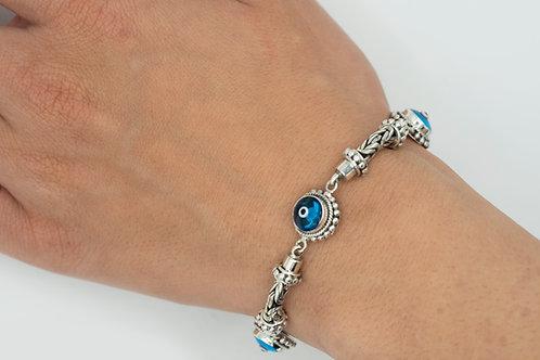 Charming Trinity Evil Eye Bracelet