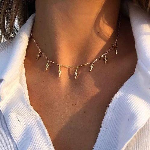 Aria Lightning Charm Necklace.