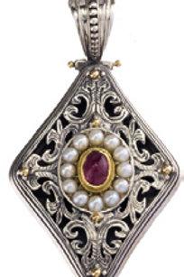 Baroque Diamond Shape Pendant