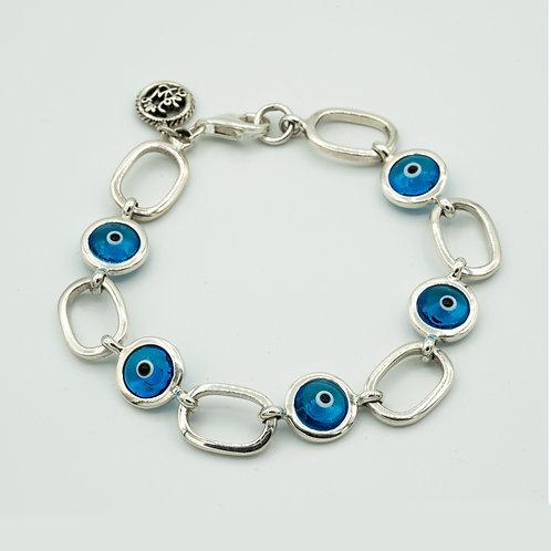 Deco Link Evil Eye Bracelet