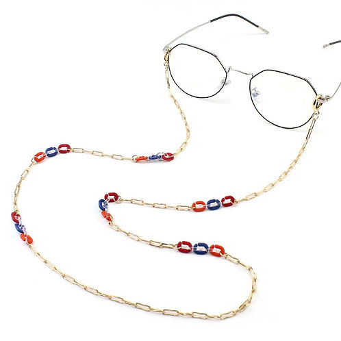 Paper Clip Link Convertible Eyeglass/Mask Necklace.