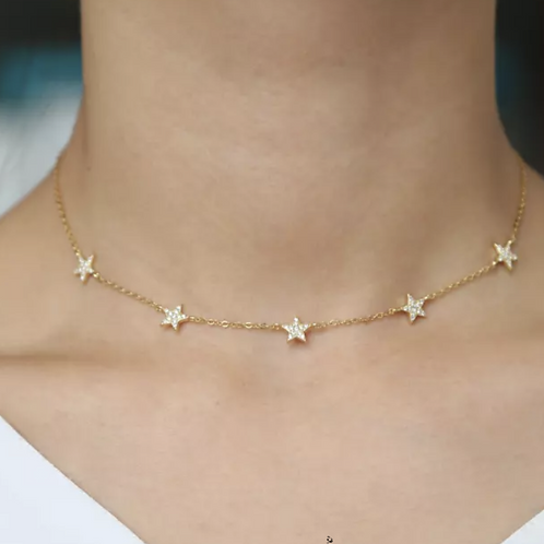 Wendy Charming Pave Star Necklace.