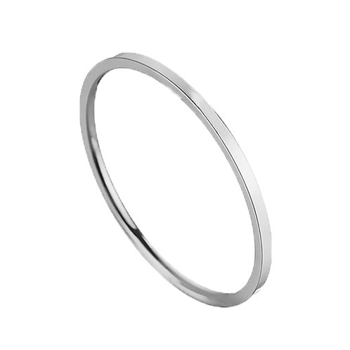 Art Deco Stackable Band -Silver