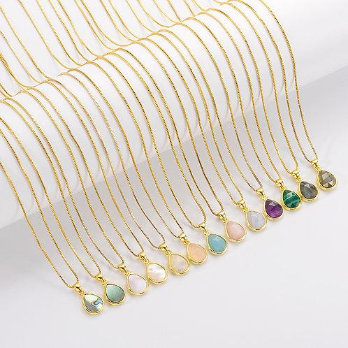 Julia Gem Stone Necklace