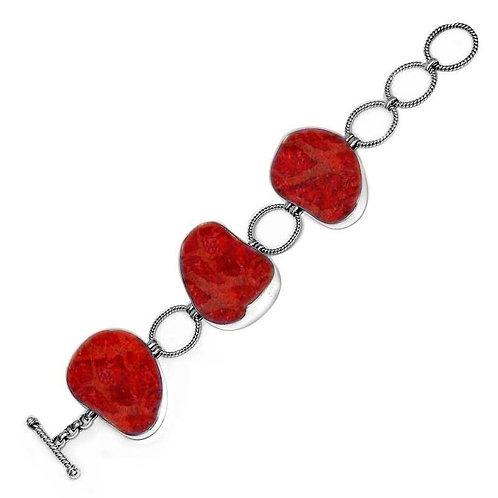 Whimsical Coral Stone Bracelet