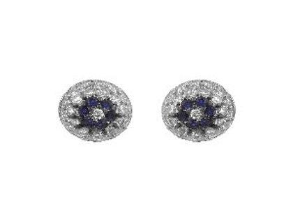 Round Ball Evil Eye Earrings