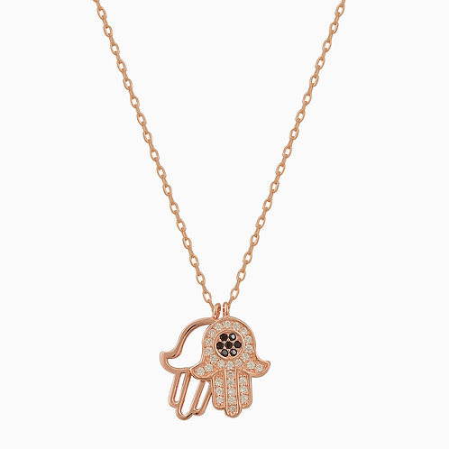 Double Hamsa Charm Necklace
