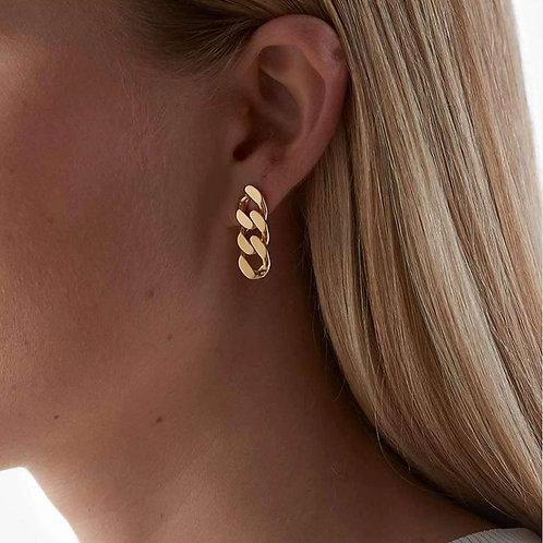 Clara Cuban Link Earrings.