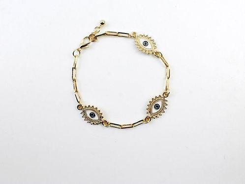 Alessia Enamel Evil eye Bracelet.