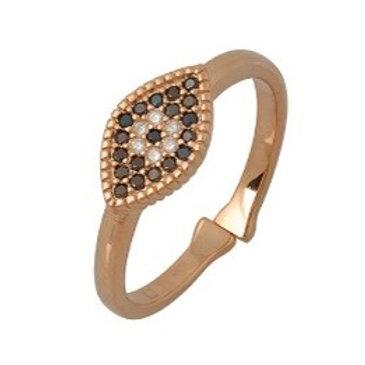 Oval Evil Eye Ring