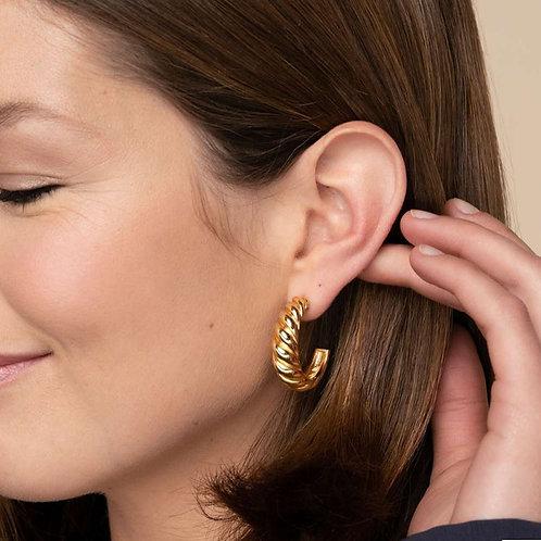 Scalloped Luna Earrings