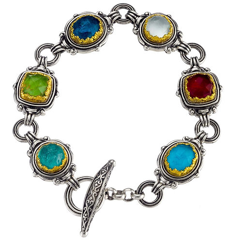 Semeli Multi Color-Shape Gemstones Bracelet