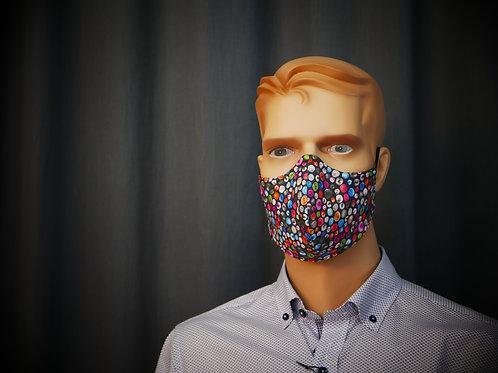 Colourful 3D-Metzler HeiQ Viroblock® Maske