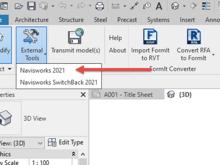 How to Export .NWC files from Revit