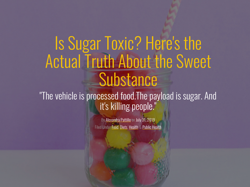 Sugar is Everywhere .... Hiding where you least expect it.