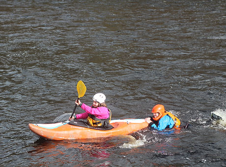 white water safety rescue kayak tow