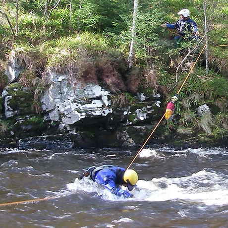 advanced white water safety rescue stabalising line
