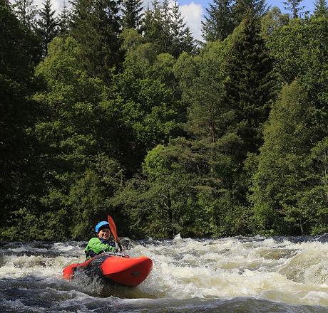 white water kayak leader