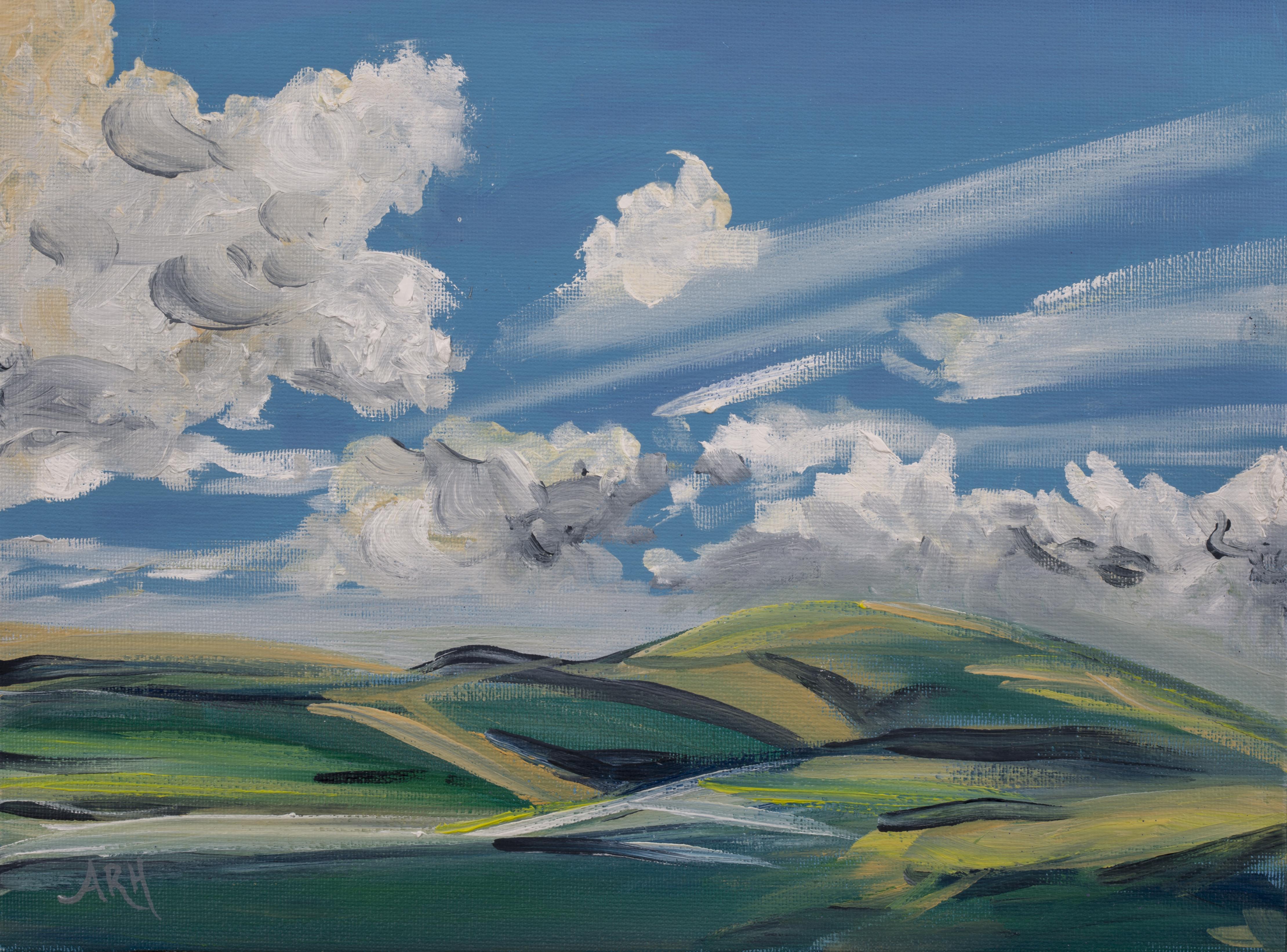 British Landscape Blue