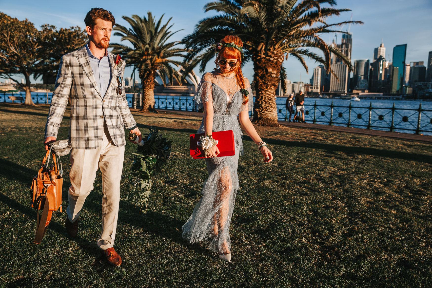 Sydney elopement photography at sydney harbour