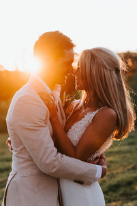 Sydney wedding photography of a couple at sunset at Mali Brae Farm