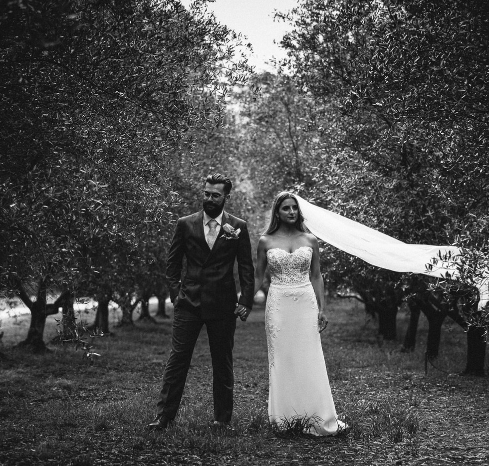Candid wedding photography of a couple at Wandin Valley Estate in Lovedale.