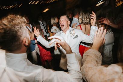 Sydney wedding photography of wedding reception dancing at Mali Brae Farm.