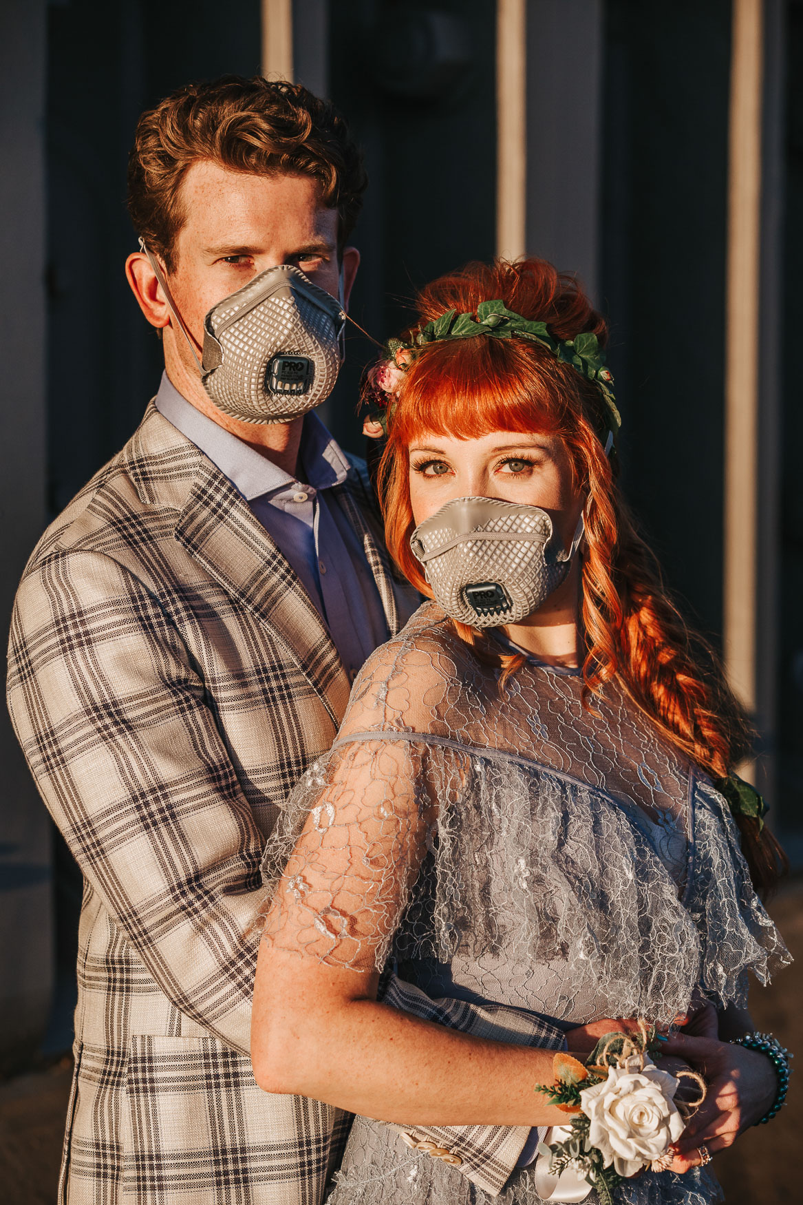 sydney covid elopement wedding with face masks
