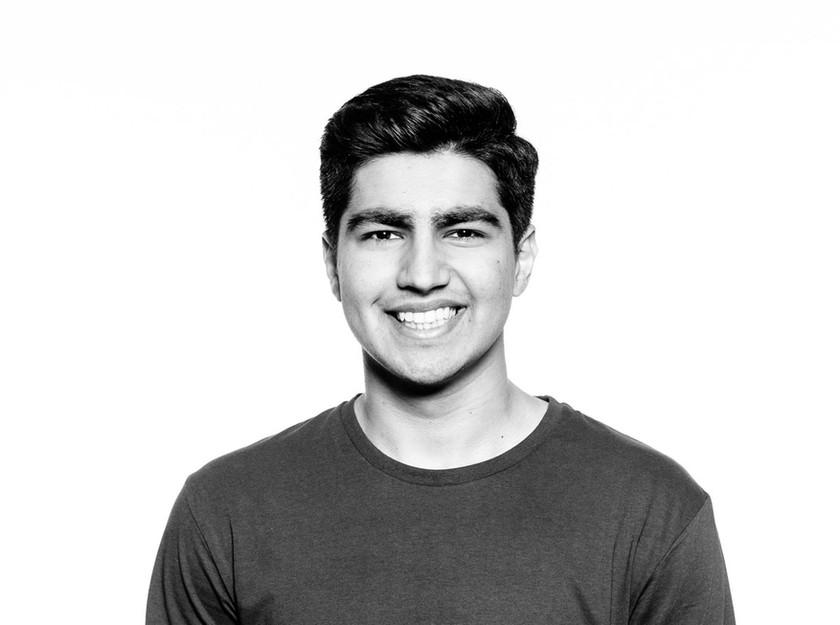 Stylish headshot photography of university student