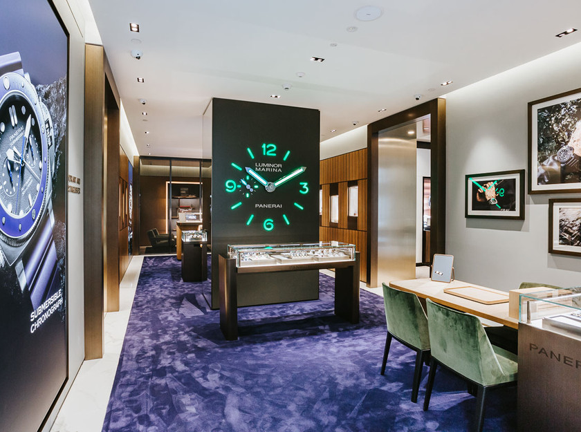 Interiors photography of watch store in sydney