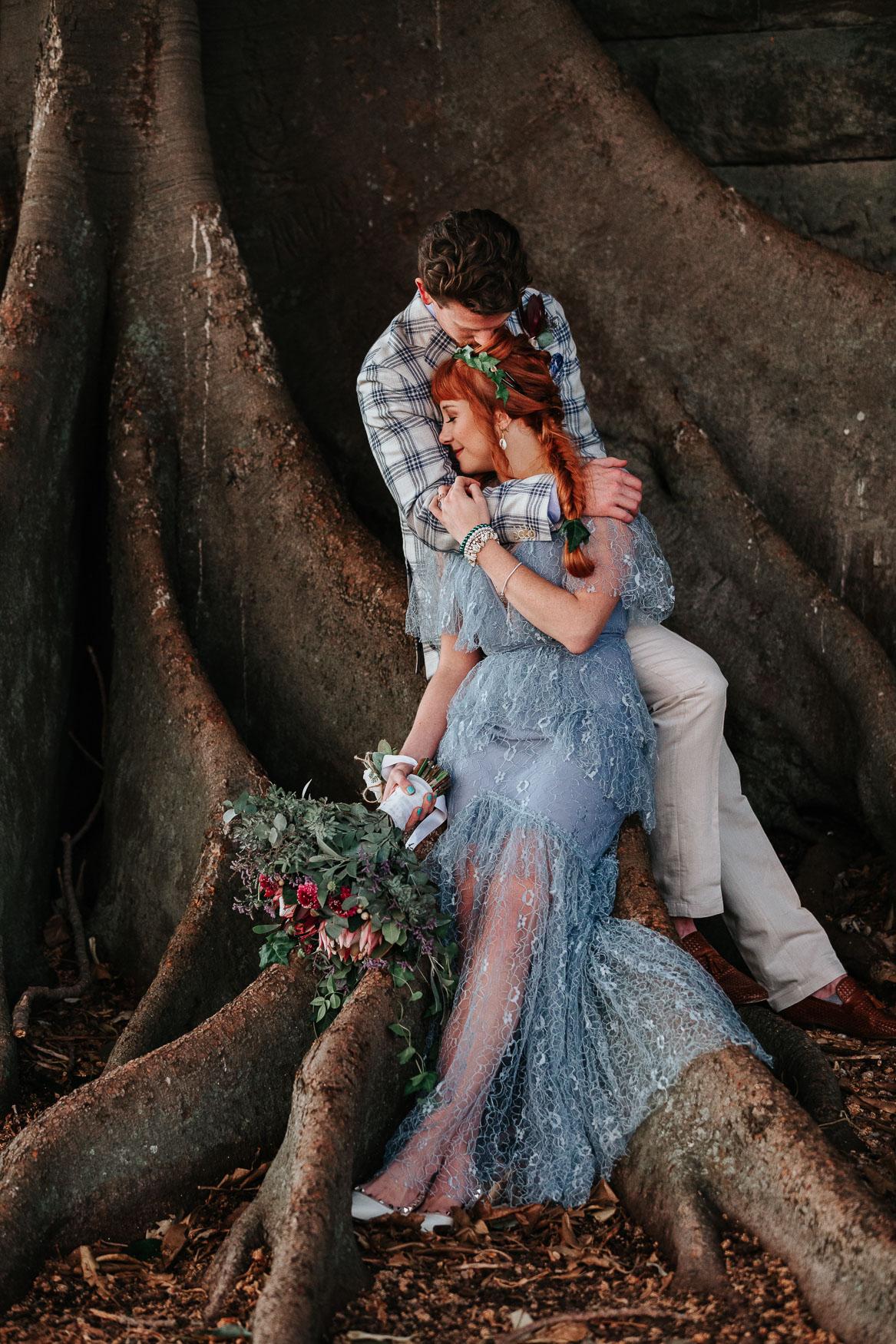 Intimate elopement wedding at Kirribilli
