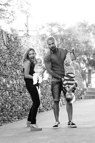 Family photography of fun family at Ballast park in East Balmain.