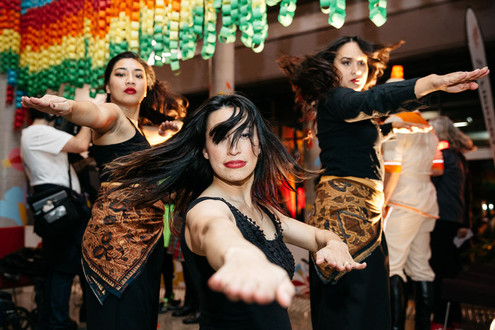 Gorgeous event photography of cultural performers at a local festival.