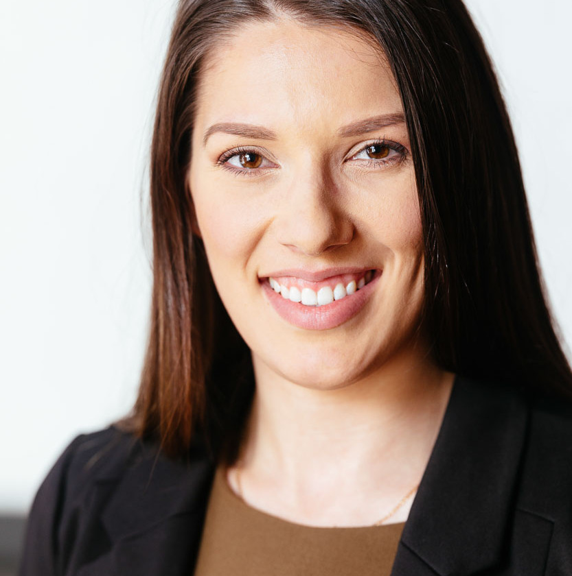 Corporate portrait photography of a business woman at DXC technology.