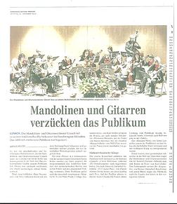 """""""Mandolinen und Gitarren vezücten das Publikum"""", 12.11.13"""