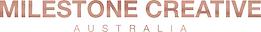 Milestone Creative Logo - METALLIC - HOR