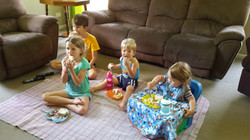 Picnic in the lounge room!