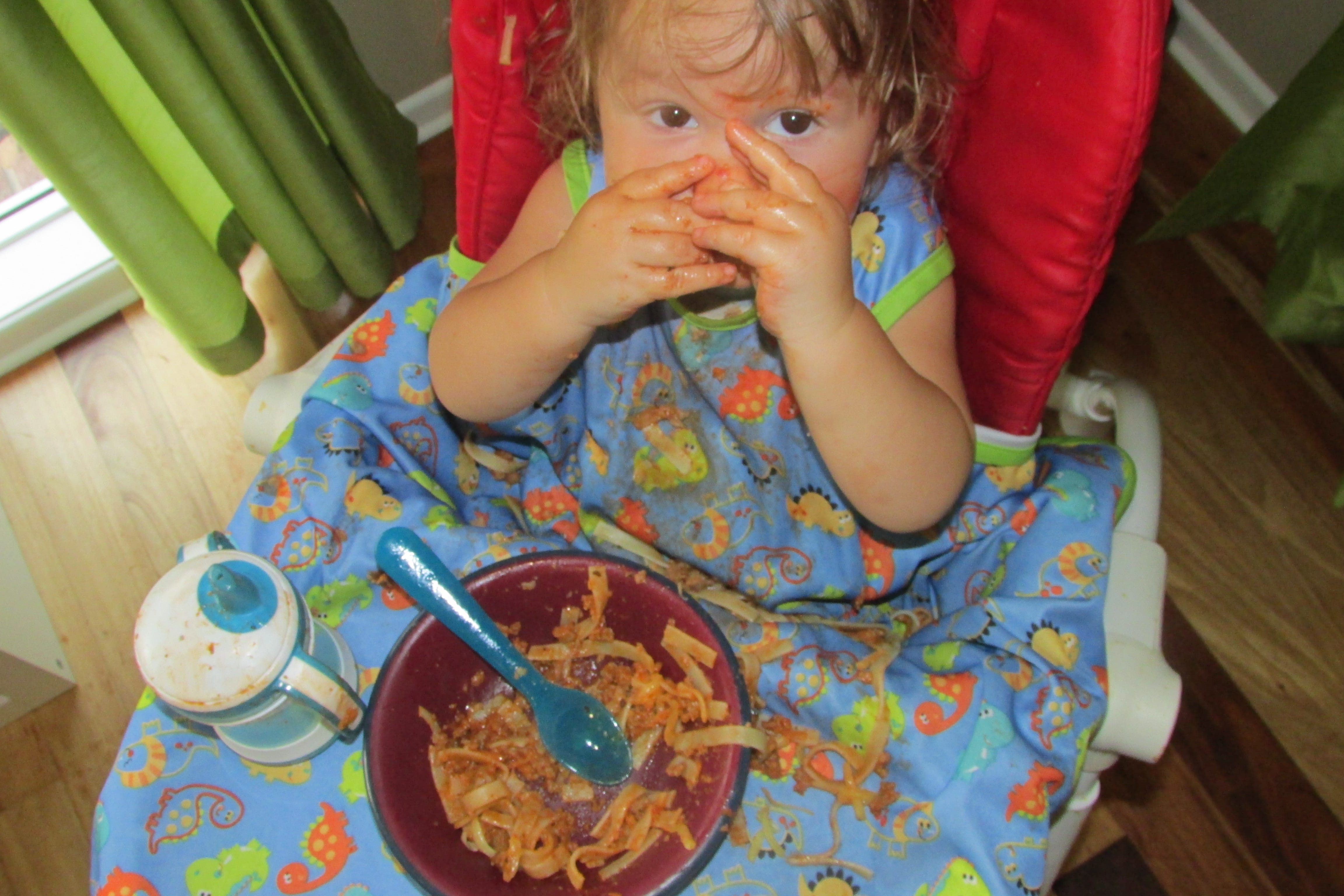 Messy pasta!