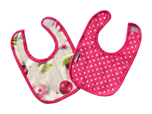 Stars and Ladybugs Reversible Dribble Bib