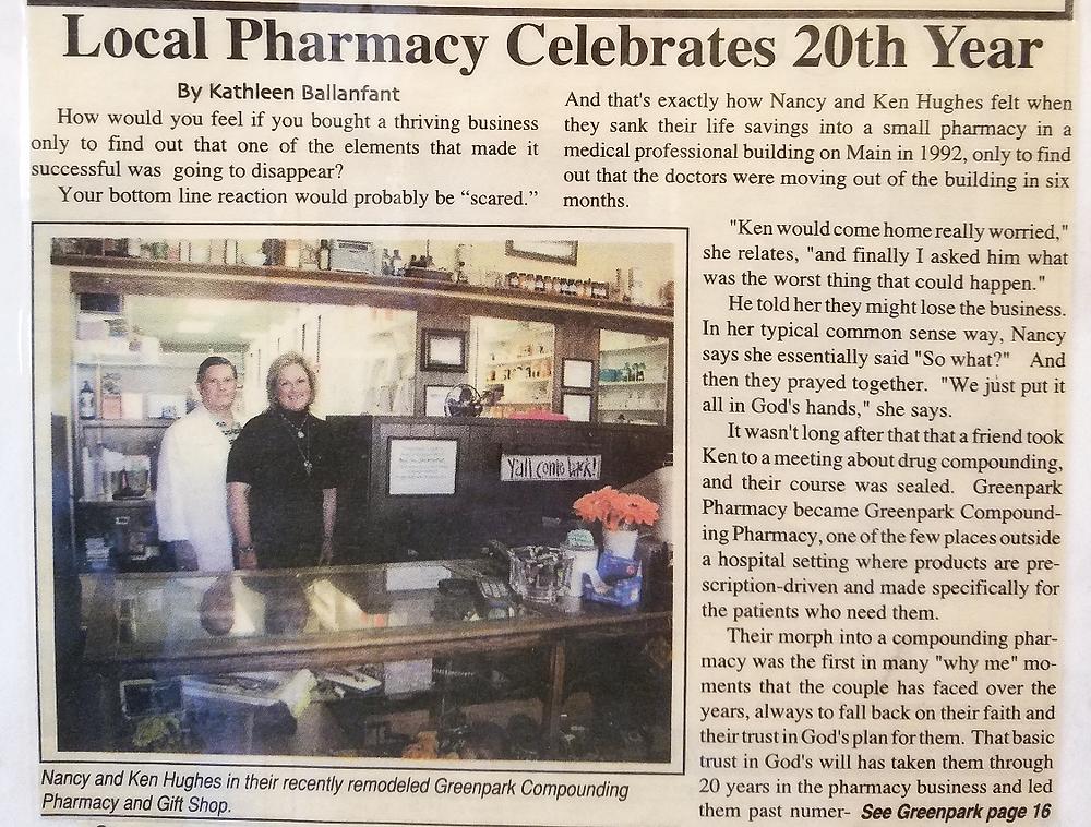 Village news article 2012 greenpark pharmacy