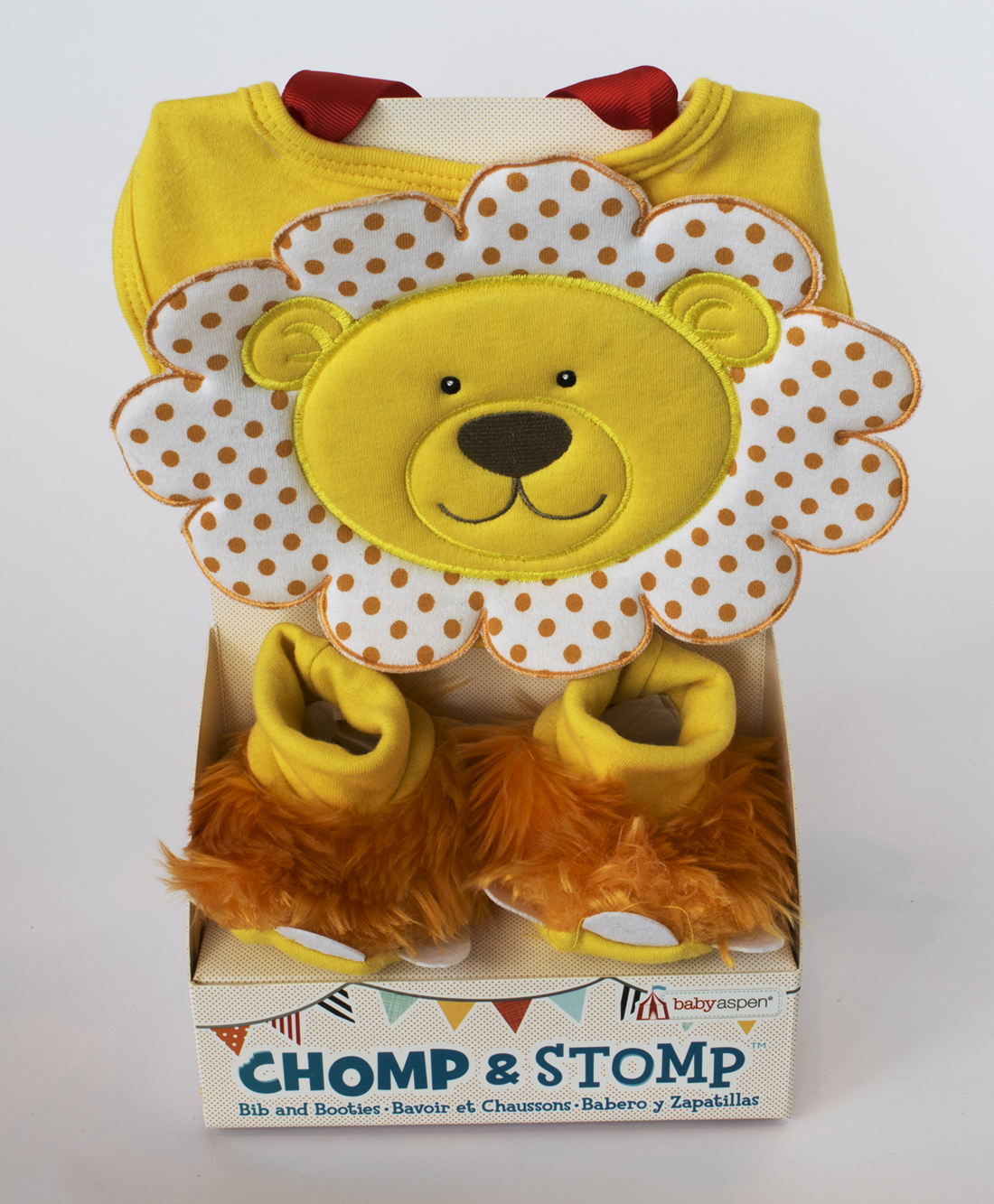 Chomp and Stomp Bib and Booties