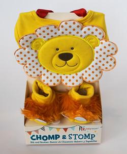 Chomp and Stomp Bib and Booties